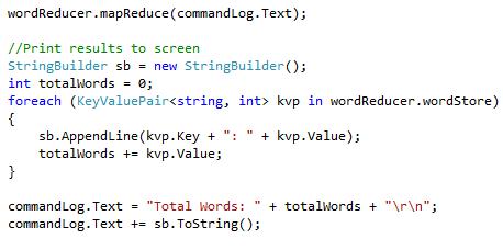 Display MapReduce Results
