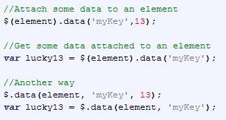 jQuery.data