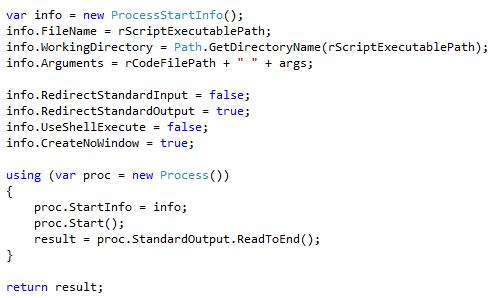 Run an R program from C#