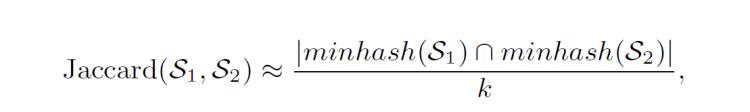 Jaccard Minhash Estimation
