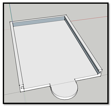 3D Model of the Drive Tray in Sketchup