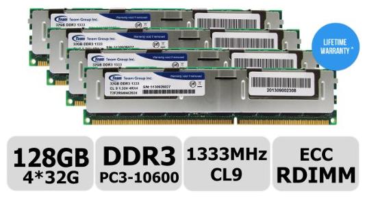 128 GB ECC 1333Mhz DDR3L PC3L-10600